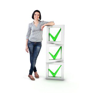 Girl With A List of Process Steps