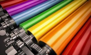 Printing Press Rollers Coloured