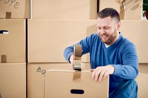 Wholesale warehouse business worker