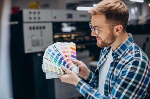 Printer with Pantone Book 300px